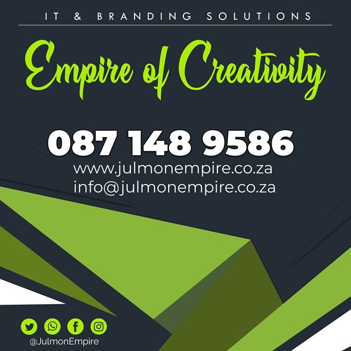 We have Solutions, Get in touch! Call: 087 148 9586 | https://www.julmonempire.co.za | info@julmonempire.co.za  #MotionGraphics #GraphicDesign #Film #Logo #Creativity #Brand #Marketing #Poster #Flyer #Branding #Animations #Websites #Style #Photoshop #Lighting #Shop #Videos #Efficiency #Projects #Illustrator #Adobe #Intro #Simplicity #Online #Solution #Perfection #TBT #TeamJE